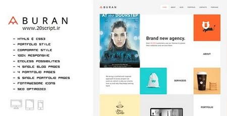 قالب HTML سایت شخصی و نمونه کارها Buran