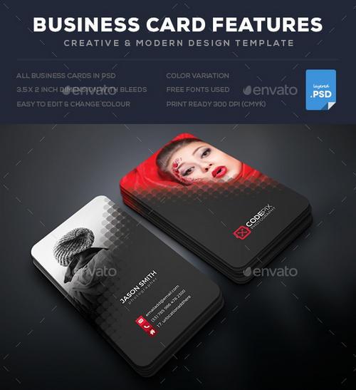 فایل لایه باز کارت ویزیت شماره 5