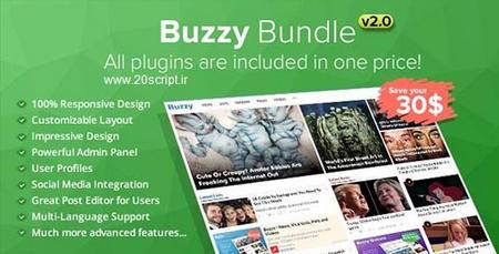 اسکریپت راه اندازی مجله خبری Buzzy نسخه 2.0