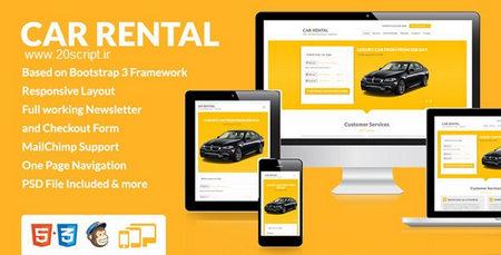 دانلود قالب اجاره خودرو Car Rental به صورت HTML