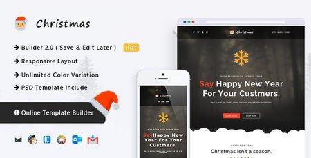 قالب HTML ایمیل و خبرنامه Christmas با قابلیت صفحه ساز آنلاین
