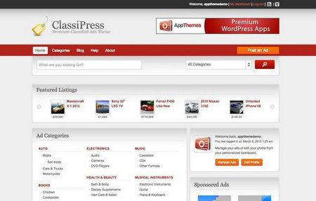 دانلود پوسته نیازمندی ها ClassiPress برای وردپرس