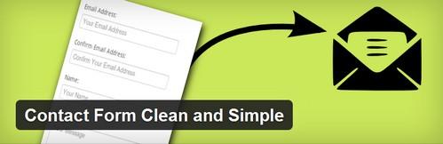 افزونه وردپرس ایجاد فرم تماس ساده Contact Form Clean and Simple