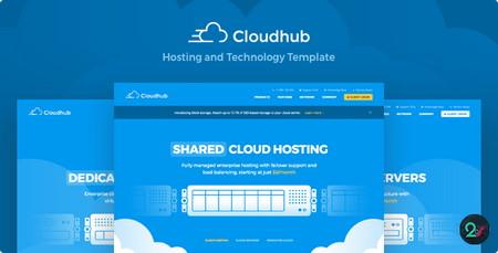 دانلود قالب با موضوع هاستینگ Cloudhub نسخه HTML و WHMCS