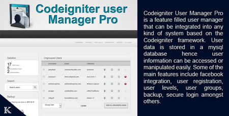 اسکریپت مدیریت کاربران CodeIgniter User Manager