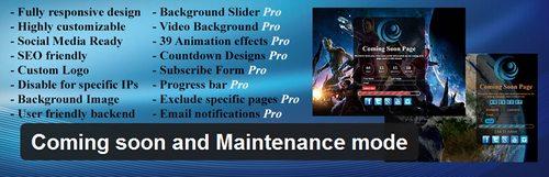 افزونه صفحه کامینگ سون Coming soon and Maintenance mode