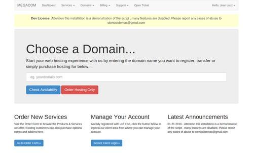 اسکریپت مدیریت هاستینگ و فروش دامنه Complete register domain and billing