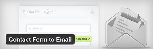 افزونه ایجاد فرم تماس در وردپرس Contact Form to Email