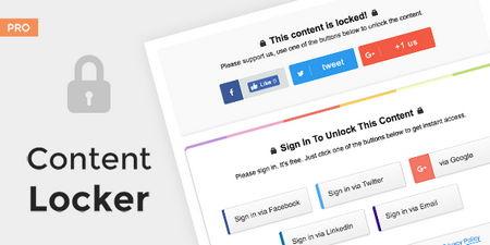 افزونه وردپرس اشتراک گذاری مطلب در ازای دانلود Content Locker Pro