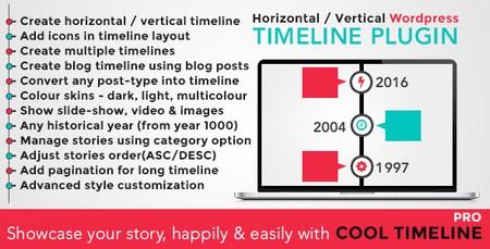 افزونه ساخت تایم لاین در وردپرس Cool Timeline Pro نسخه 2.7