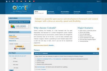 اسکریپت مدیریت محتوای Cotonti
