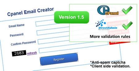 اسکریپت سرویس ایمیل دهی Cpanel Email Creator