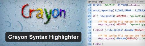 افزونه وردپرس برای جاگذاری کدها Crayon Syntax Highlighter