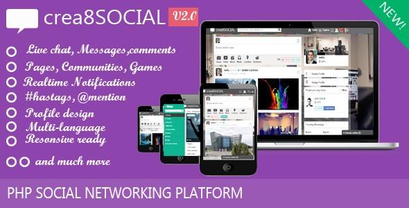 اسکریپت راه اندازی جامعه مجازی Crea8social نسخه 2.0