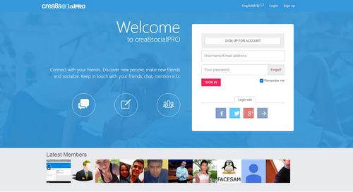 اسکریپت راه اندازی شبکه اجتماعی crea8socialPRO نسخه ۶٫۲