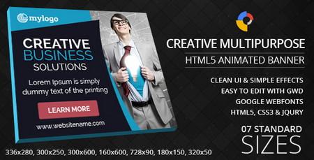 ایجاد بنر های متحرک و خلاقانه با اسکریپت Creative Multipurpose