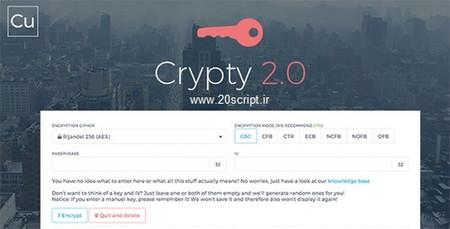 اسکریپت رمزگذاری و کد کننده فایل Crypty نسخه 2.0