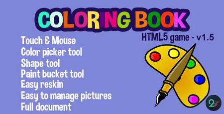 اسکریپت بازی کتاب نقاشی آنلاین Customizable Coloring Book