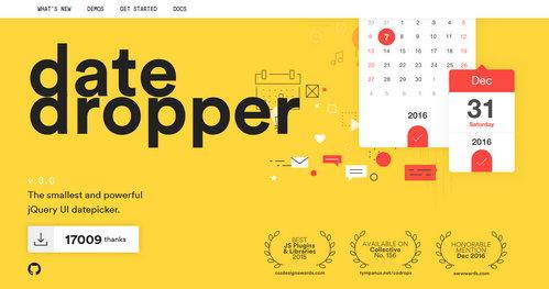 اسکریپت جی کوئری تاریخچین با طراحی متریال DateDropper