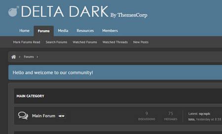 دانلود قالب Delta Dark برای زنفورو