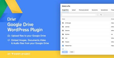 مدیریت فایل های گوگل درایو با افزونه Drivr برای وردپرس