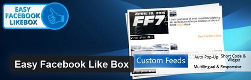 افزونه لایک باکس فیس بوک در وردپرس Easy Facebook Like Box