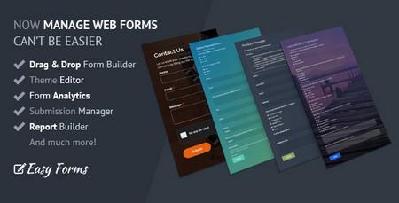 اسکریپت فرم ساز و مدیریت فرم Easy Forms نسخه 1.8