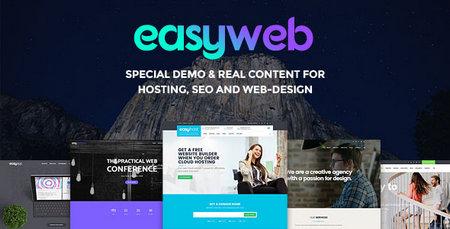 قالب وردپرس طراحی وب و میزبانی وب EasyWeb