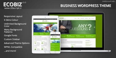 پوسته کسب و کار ECOBIZ برای وردپرس