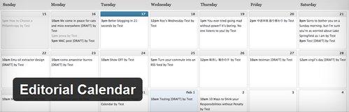 دانلود افزونه زمانبندی مطالب در وردپرس Editorial Calendar
