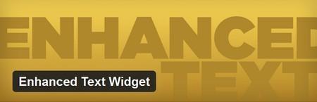 افزونه ایجاد لینک باکس در وردپرس Enhanced Text Widget