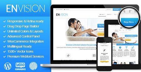 دانلود پوسته ورپرس چند منظوره انویژن Envision نسخه 2.0.9.5