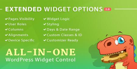 افزونه مدیریت ابزارک های وردپرس Extended Widget Options