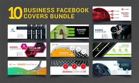 10 طرح لایه باز بنر تبلیغاتی کسب و کار و بیزینس برای فیس بوک