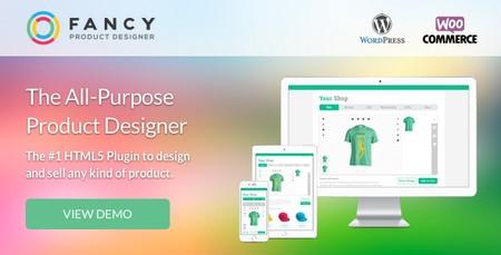 افزونه طراحی آنلاین محصول ووکامرس Fancy Product Designer نسخه 3.9.0