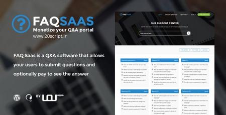 دانلود قالب پرسش و پاسخ FAQ SaaS برای وردپرس