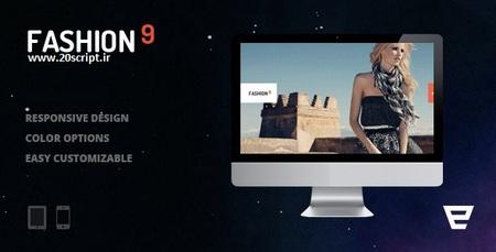 دانلود پوسته عکاسی Fashion9 برای وردپرس