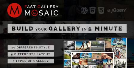 افزونه ایجاد گالری عکس با طرح موزاییک در وردپرس Fast Gallery Mosaic
