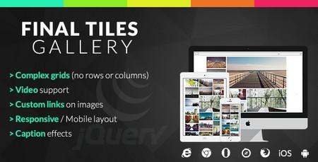 پلاگین جی کوئری گالری Final Tiles نسخه 1.4