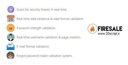 اسکریپت فرم ورود و عضویت حرفه ای FireSale