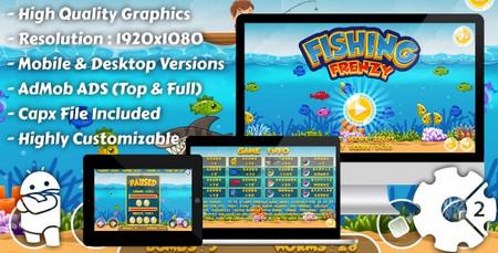 اسکریپت بازی آنلاین ماهیگیری Fishing Frenzy به صورت HTML