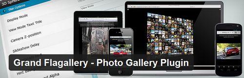 افزونه ایجاد گالری عکس و موزیک در وردپرس Grand Flagallery