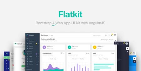قالب مدیریت وب سایت Flatkit به صورت HTML