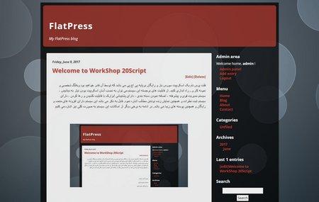 اسکریپت مدیریت محتوای FlatPress
