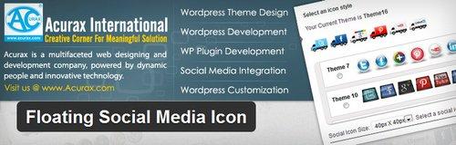 افزونه وردپرس آیکون شناور شبکه های اجتماعی Floating Social Media Icon