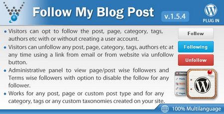 افزونه دنبال کردن رویداد های مطالب با Follow My Blog Post