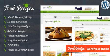 قالب وردپرس دستور غذا و آشپزی Food Recipes