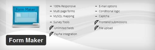 افزونه ساخت فرم تماس سفارشی در وردپرس Form Maker