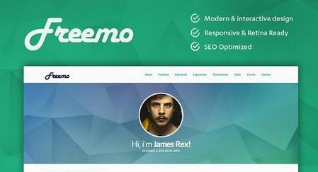 دانلود قالب HTML رزومه کاری و نمونه کار Freemo