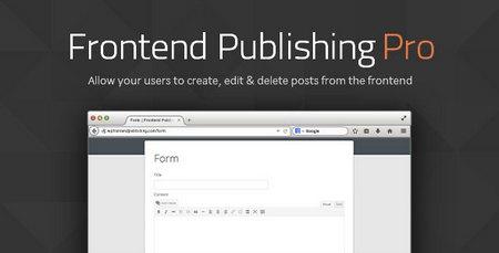 افزونه ارسال پست مهمان در وردپرس با Frontend Publishing Pro